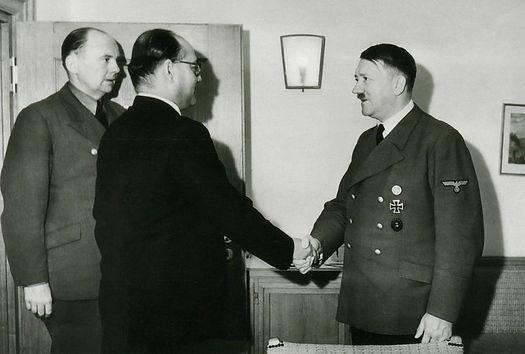 Subhas Chandra Bose meeting Adolf Hitler