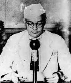 Subhas Chandra Bose speaking from Berlin