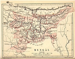 Map of Bengal Province in 1905