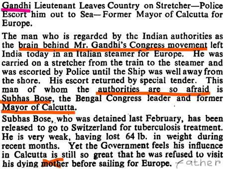 Daily Herald - 24 February 1933 - On Subhas's exile