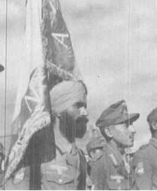 Gurmukh Singh with INA Flag