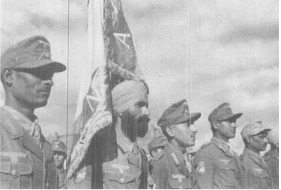 Gurmukh Singh with INA Flag