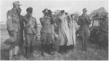 Bose in inspection of troops