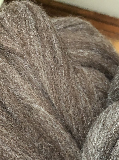 Brown with gray undertone Rambouillet Columbia Combed Top (sold by the ounce)