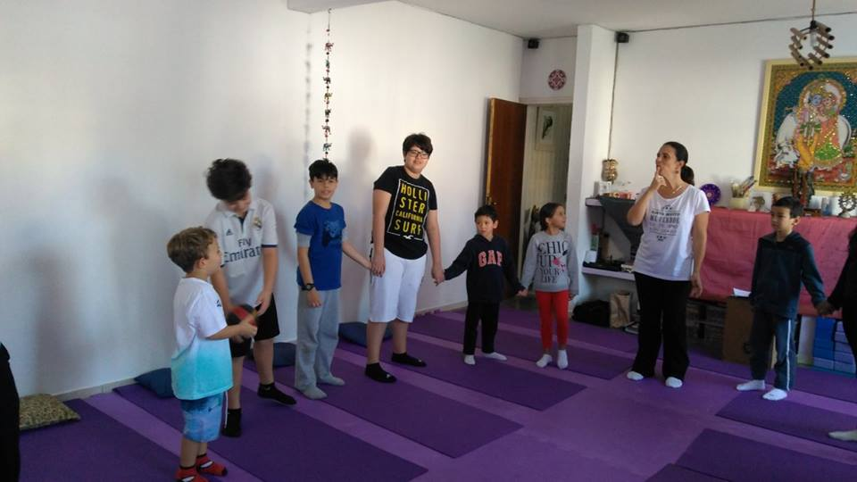 Evento na Escola de yoga