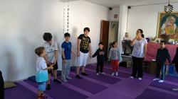 Evento na Escola de yoga