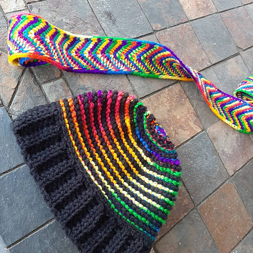 reversible scarf and hat set