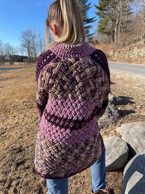 basket-weave cardigan