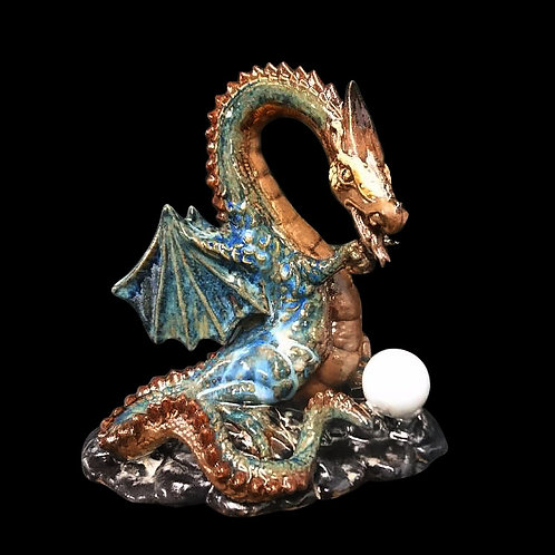 Treasure Dragon in Stoneware handpainted and made at our studio, allow 21days