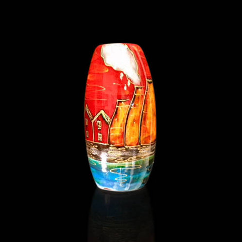 Potteries Past Skittle Vase 17cm
