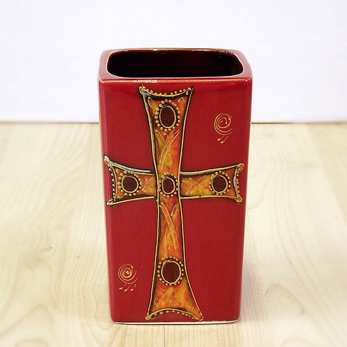 Staffordshire Hoard Square Vase 15cm
