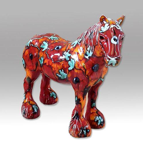Harvest Poppy Horse