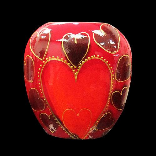 Hearts 12cm Purse Vase