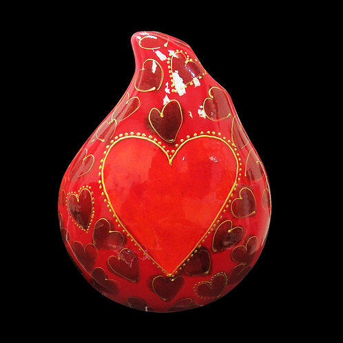 Painted to order please allow 14 days Hearts 22cm Teardrop