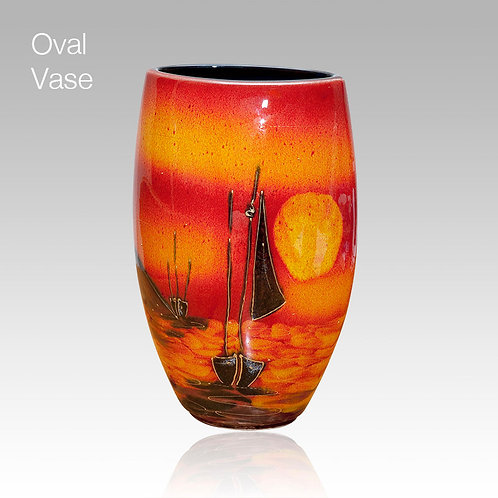 Sailing Home Oval Vase 16cm