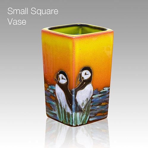 Puffin Island Small Square Vase 12cm