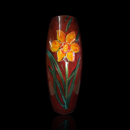Painted to order please allow 7 to 21 days Yellow Daffodil 25cm Skittle Vase