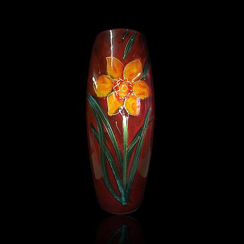 Yellow Daffodil 25cm Skittle Vase