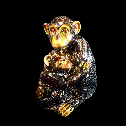 Chimpanzee and baby 25cm Figure allow 21 days