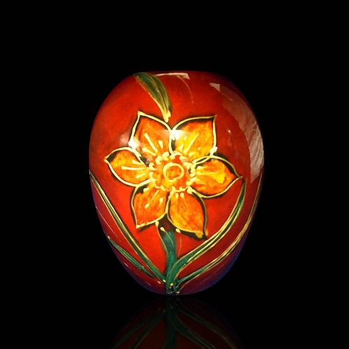 Made to order handpainted Daffodil Delta Vase 15cm