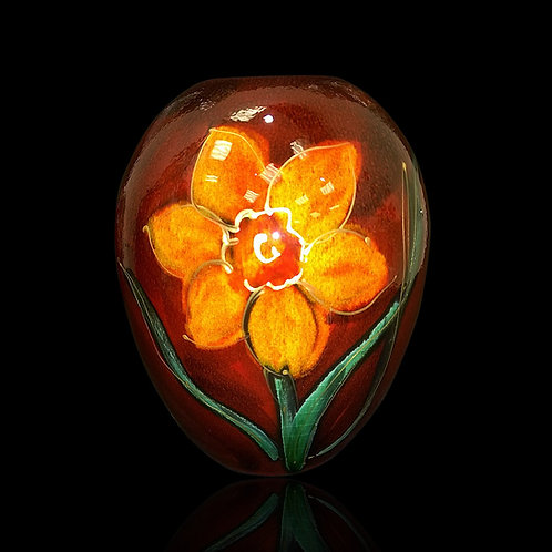Painted to order please allow 7 to 21 days Yellow Daffodil Delta Vase