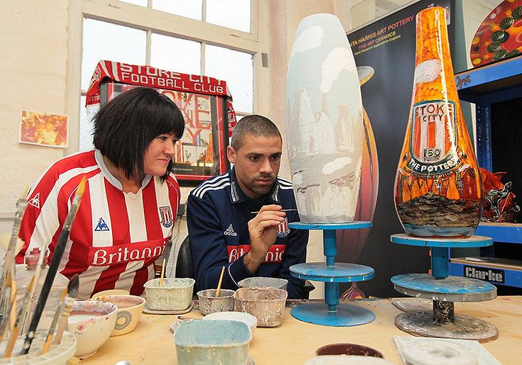 Stoke City FC Jon Walters Anita Harris