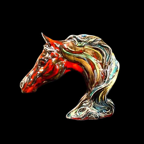 Large Horses Head Figure