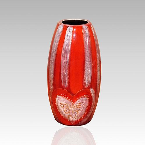 I Love Stoke City FC 17cm Skittle Vase