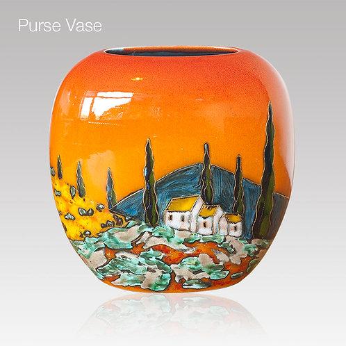 Tuscany Purse Vase 19cm