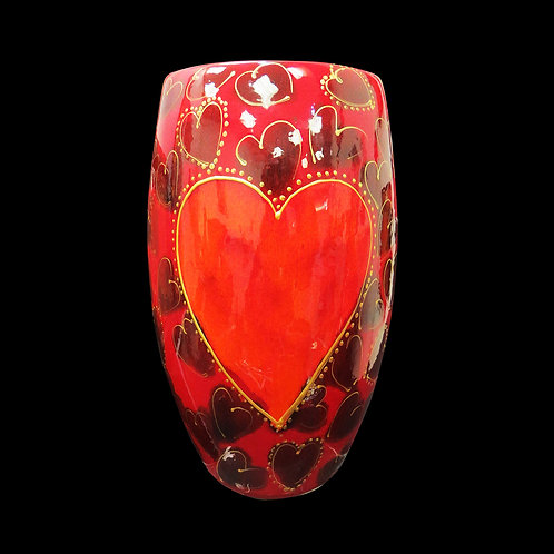 Hearts 16 cm Oval vase