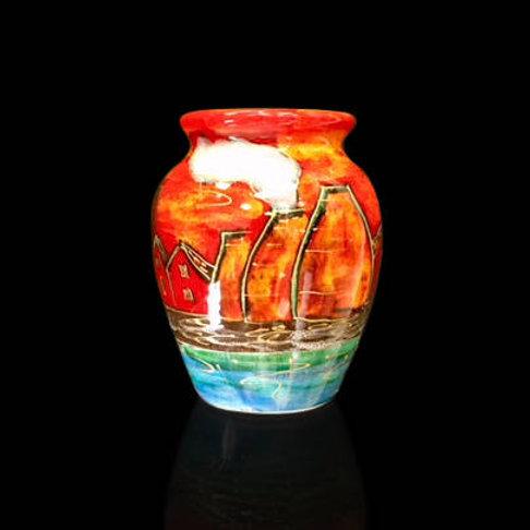Potteries Past Ali Baba Vase 13cm please allow 21 days