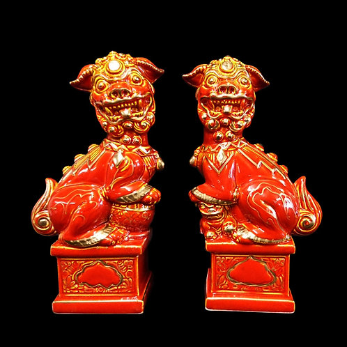 Foo Dogs Figures Pair