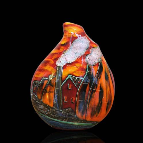 Potteries Past Teardrop Vase 22cm