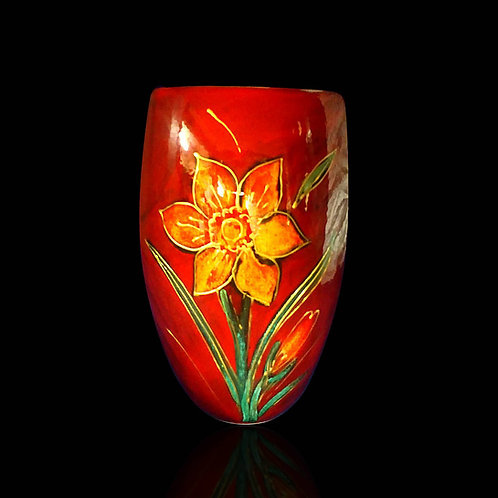 Made to order Daffodil Medium Oval Vase 19cm