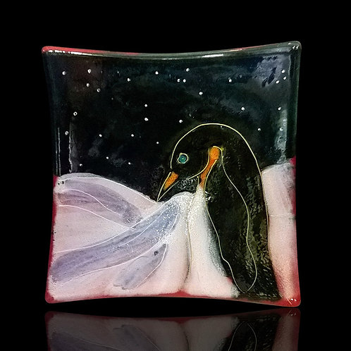 Penguin Square Dish