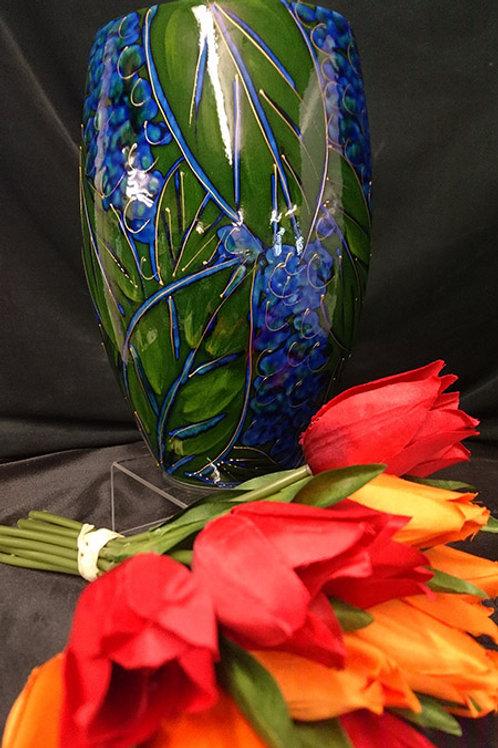 Made to order Blueberries Oval 24cm Vase