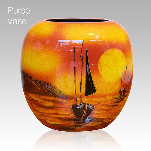 Sailing Home Purse Vase 19cm