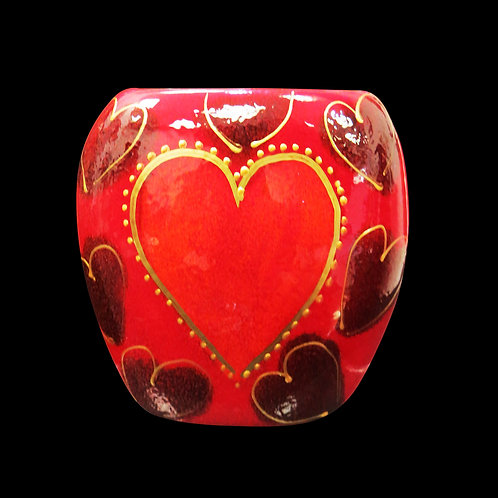 Hearts Vase Mini Purse Vase