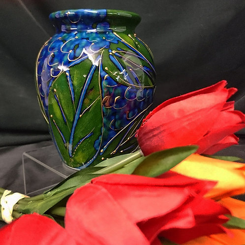 Blueberries Round 14cm Vase