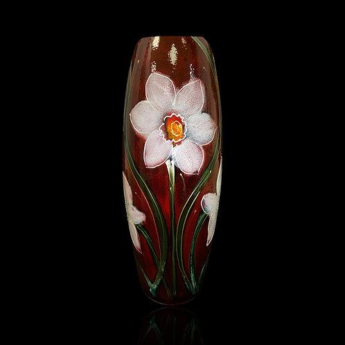 White Daffodil 25cm Skittle Vase