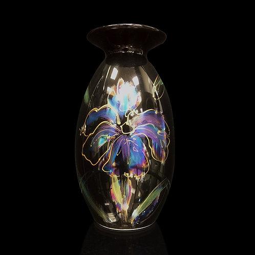 Made to order Black Iris Lustre Minos Vase 21cm