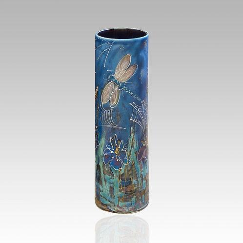 Dragonfly Brook Cylinder Vase