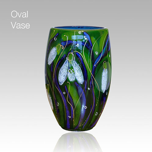 Snowdrop Oval Vase 16cm