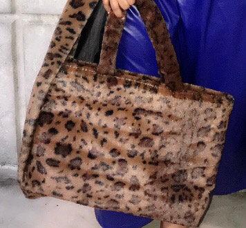 Cheetah Faux Fur Tote