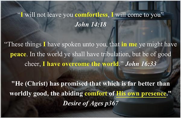 Comfort in Christ