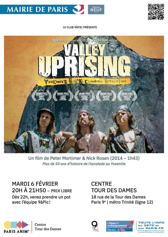 Projection : Valley Uprising, mardi 6 février 2018, 20h