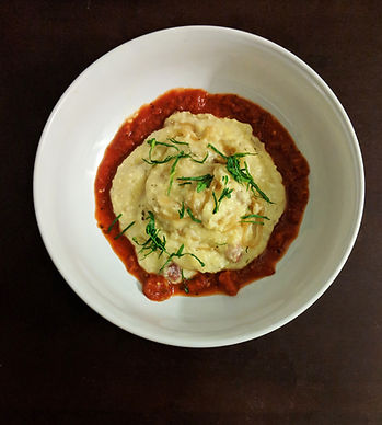 Crock-Pot Polenta with caramelized onion