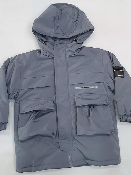 /Jacket with zipper and pockets