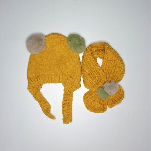 Woolen Cap With Muffler (1-4 Years)