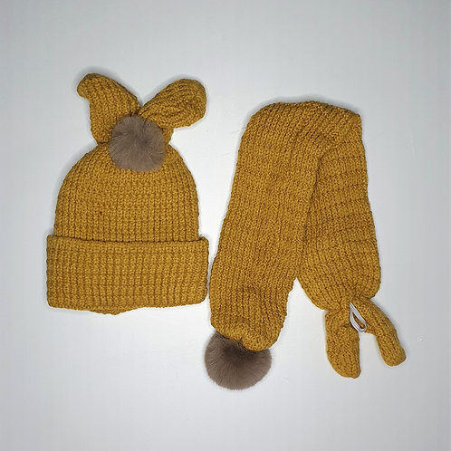 Woolen Cap With Muffler (With Inner Lining) (1-4 Years)